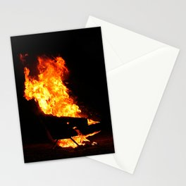 Burning couch  Stationery Cards