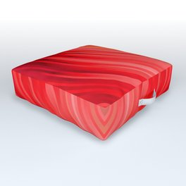 stripes wave pattern 3 dr Outdoor Floor Cushion