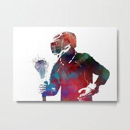 lacrosse sport art #lacrosse #sport Metal Print