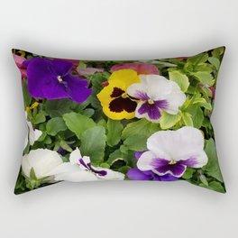 Pansies, Flowers, Bouquet Rectangular Pillow