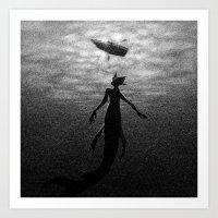 Drawlloween 2016: Creature From The Black Lagoon Art Print