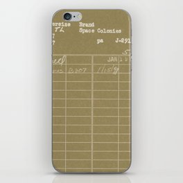 Library Card 797 Negative Brown iPhone Skin