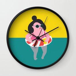 Pool Floatie Girl Wall Clock