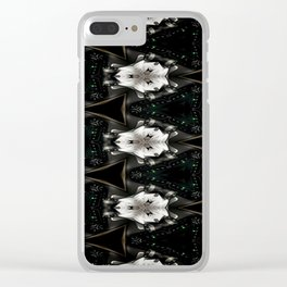 Concave Stature Pattern Clear iPhone Case