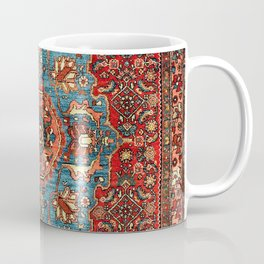 Bidjar Antique Kurdish Northwest Persian Rug Print Coffee Mug