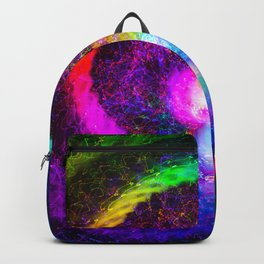 Spiral tie dye light painting Backpack