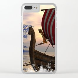 The  viking longship Clear iPhone Case