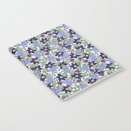 Violets Are Blue floral print Notebook