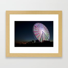 The Big Wheel Framed Art Print
