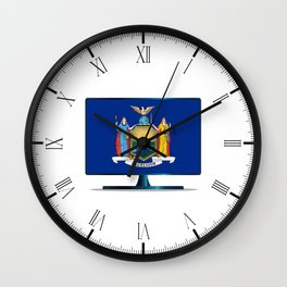 New York Flag TV Wall Clock