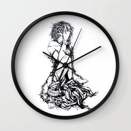 No Pain but Insanity Wall Clock
