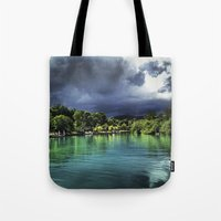 jamaica Tote Bags featuring Jamaica  by Lawrence Gregorek