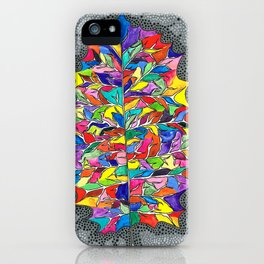 Rainbow Leaf iPhone Case