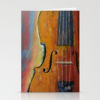 violin Stationery Cards featuring Violin by Michael Creese