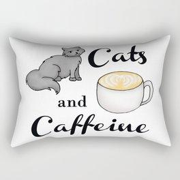 Cats and Caffeine Rectangular Pillow