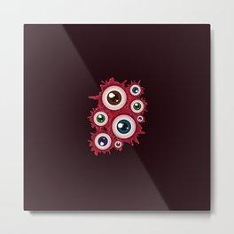 Spooky halloween bloody eyeballs Metal Print