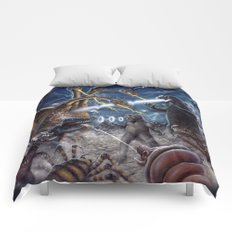 Godzilla Destroy all Monsters Monster Island Kaiju battle Comforters