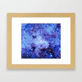 GAlaxy Periwinkle Stars Framed Art Print
