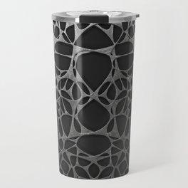 Metal on black, organic abstraction Travel Mug