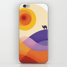 Sun, Desert, Waves of Sand and Camel iPhone Skin