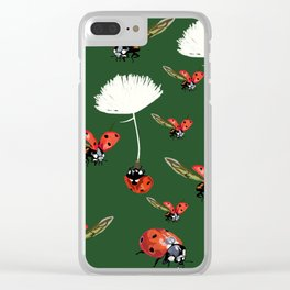 Ladybug flight Clear iPhone Case