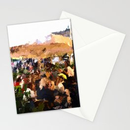 Tourists in Nyhavn Stationery Cards