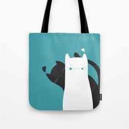 Black White Cats Tote Bag