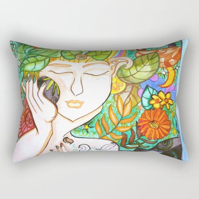 Earth Awakening Rectangular Pillow