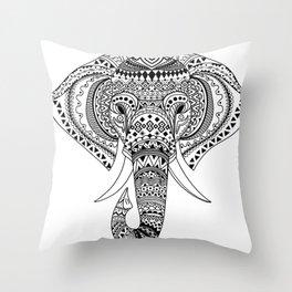 Ethnic Elephant Throw Pillow