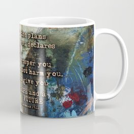 Scripture Bible Verse Christian Inspired Abstract Art by Michel Keck Coffee Mug
