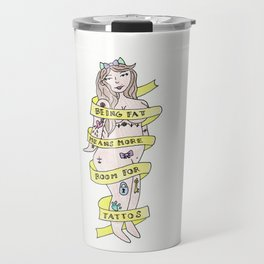 Tattoo Girl Drawing Travel Mug