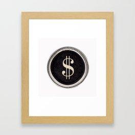 Vintage Dollar Sign Framed Art Print