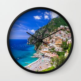 Amalfi Coast Italy Wall Clock