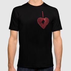 Loving Red Black Mens Fitted Tee MEDIUM