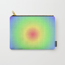 Pastel Radial Rainbow Carry-All Pouch