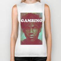 childish gambino Biker Tanks featuring Gambino by NArtist_P3rhaps