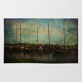 Historical Harbor Woudrichem The Netherlands Rug