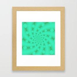 Tess Fractal in Honeydew Framed Art Print