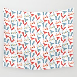 Pattern with swimsuits Wall Tapestry