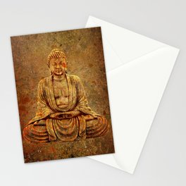 Sand Stone Sitting Buddha Stationery Cards