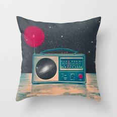 Space Radio Throw Pillow