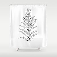 fern Shower Curtains featuring Fern by TrueNoire