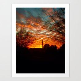 Pretty Florida Fiery Sunset Art Print