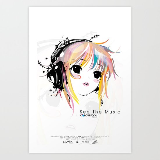 See The Music Art Print