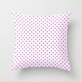 Dots (Fuchsia/White) Throw Pillow