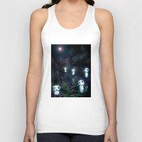 kodama Tank Tops featuring Princess Mononoke - The Kodama by pkarnold + The Cult Print Shop
