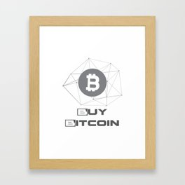 Buy Bitcoin Funny Framed Art Print