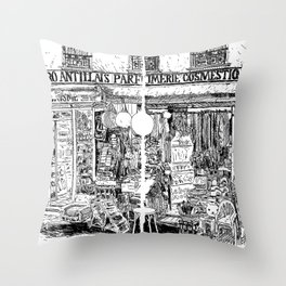 Faubourg du Temple Throw Pillow