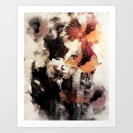 Bandwagon Abstract Portrait Art Print