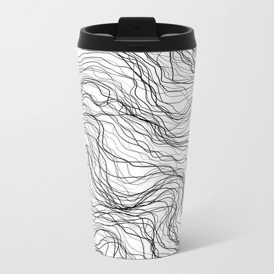 Black veins Metal Travel Mug